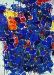 """Blue"" by Sam Francis"