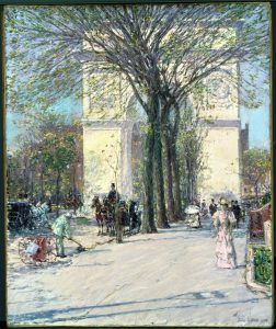 """Washington Arch, Spring"" by Childe Hassam"