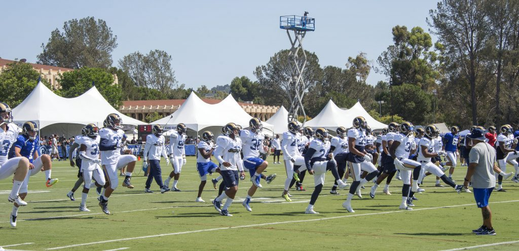 Warmup2 rams training camp