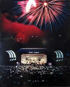 Pacific Symphony's first concert at Irvine Meadows in August, 1987