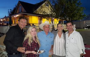Christopher and Catherine with Tobin James and fellow Newport Beach residents