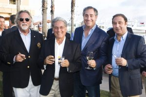 Emcee John Wortmann, John Daade, Kory Kramer and David Keglia