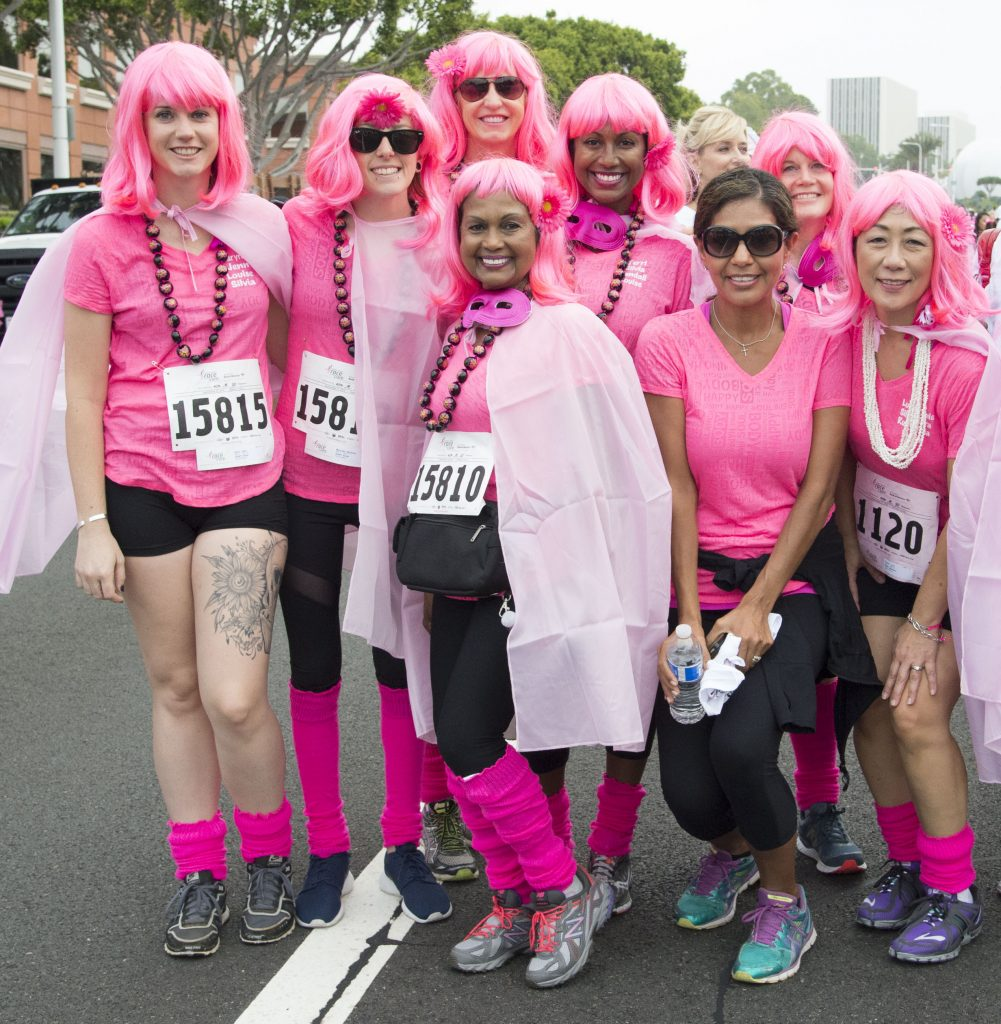 Runners from a previous Susan G. Komen Orange County Race for the Cure pose for a photo. — NB Indy file photo ©