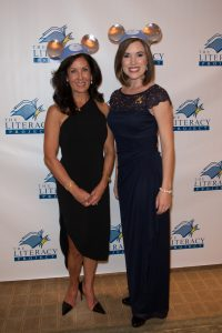 """Literacy Project Founder Sue Grant with Disney Ambassador Jessica Bernard at last year's """"What Dreams Are Made Of"""" gala"""
