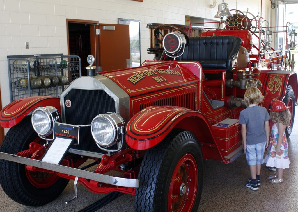 An antique fire truck displayed at a previous Newport Beach Fire Department open house event.  — NB Indy file photo ©