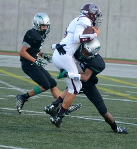Safety Miles McCord brings down a Grizzly opponent