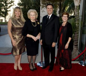 (left to right) Maria Hall-Brown, Event Co-chair Jo Ellen Chatham, John Forsyte, President of the Pacific Symphony and Event Co-chair Joann Leatherby.
