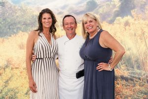 Crystal Cove Alliance President and CEO Alix Hobbs, The Resort at Pelican Hill Executive Chef Jean Pierre Dubray and Crystal Cove Alliance Founder and Vice President Laura Davick (Paul F. Gero Photography)
