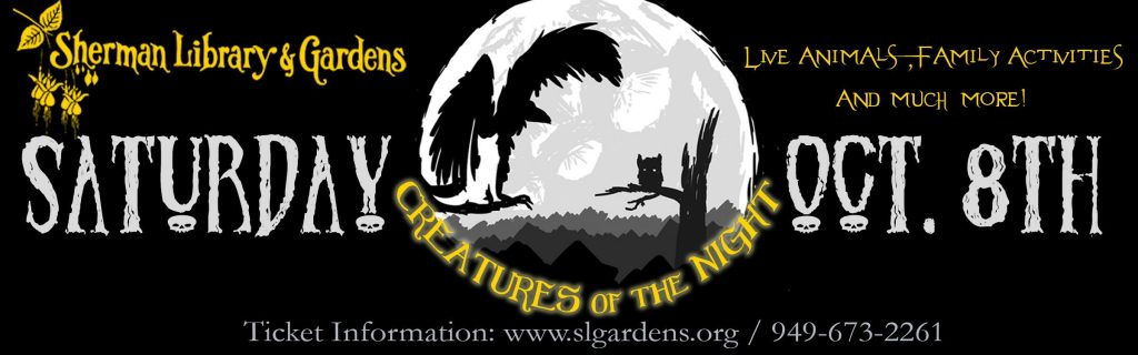 "Sherman Library & Gardens presents ""Creatures of the Night"" on Saturday. — Logo courtesy Sherman Library & Gardens ©"