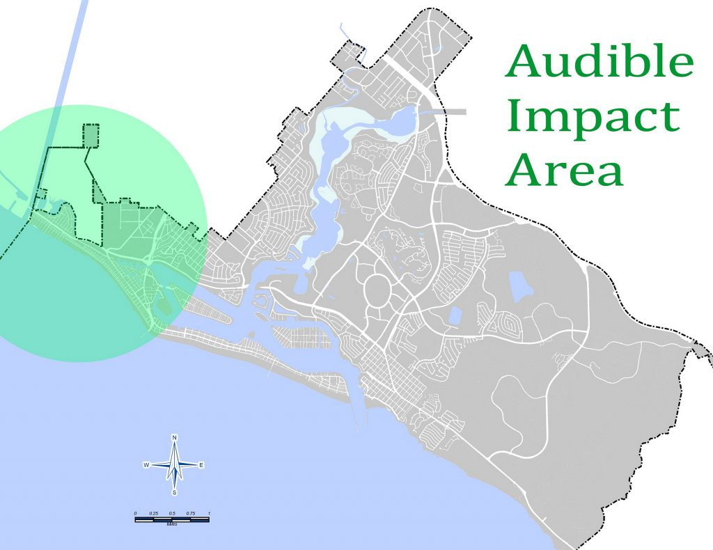 Map of area likely to be impacted by the air show. — Photo courtesy the city of Newport Beach ©