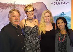 Chef Pascal Olhats, Chapman University volunteer Ashley Cleveland, NB Indy columnist Catherine Del Casale, Save Elephant Foundation founder Lek Chailert