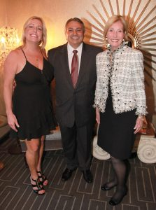 Patti Larson-Sunup Group/Charity Classic Committee, Shahin Vosough-General Manager, Victoria Collins, PhD-honoree