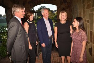 Jim Driscoll, board chairman, left; with premier sponsors Janice and John Markley; Dawn Reese, Executive Director & CEO; and Jocelyn Magaña, Class of 2017.