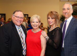 Rabbi Ralph Resnick, Director of Philanthropy Beth Slavin, honorees Leslie Seigel and Scott Seigel.