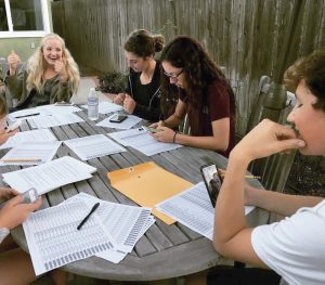 Local teens work the phone bank for School Board candidates