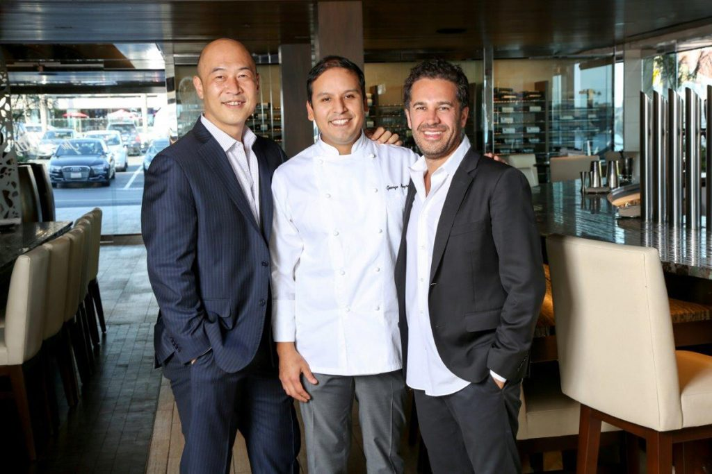 The Ritz - Young Lee, Chef George Neyra, and Ben Sabouri. — NB Indy file photo ©