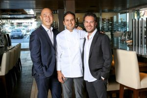 The Ritz management  team and chef: Young Lee, Chef George Neyra, Ben Sabouri. — NB Indy file photo ©