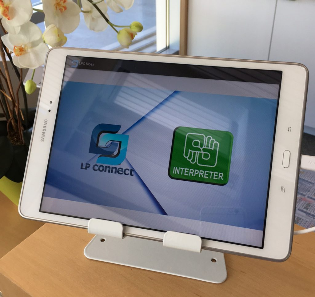 A deaf friendly tablet at a location in Newport Beach.  — Photo courtesy city of Newport Beach ©
