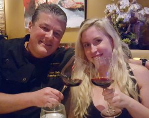 Winery Chef Yvon Goetz with Catherine Del Casale