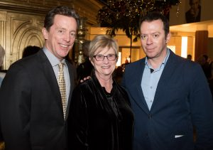Nutcracker 2016 cast party-Terry Dwyer, Judy Morr, Alexei Ratmansky. Photo by Doug Gifford