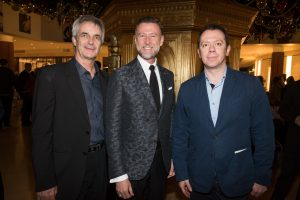 Nutcracker 2016 cast party - Kevin McKenzie, Michael Howard, Alexei Ratmansky. Photo by Doug Gifford
