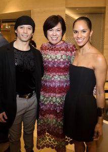 Nutcracker 2016 cast party-Herman Cornejo, Debra Downing of South Coast Plaza with Misty Copeland. Photo by Doug Gifford