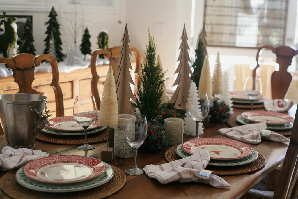 The table setting in Diana Conners' home, which will be featured in the holiday home tour. — Photo by Sara Hall ©
