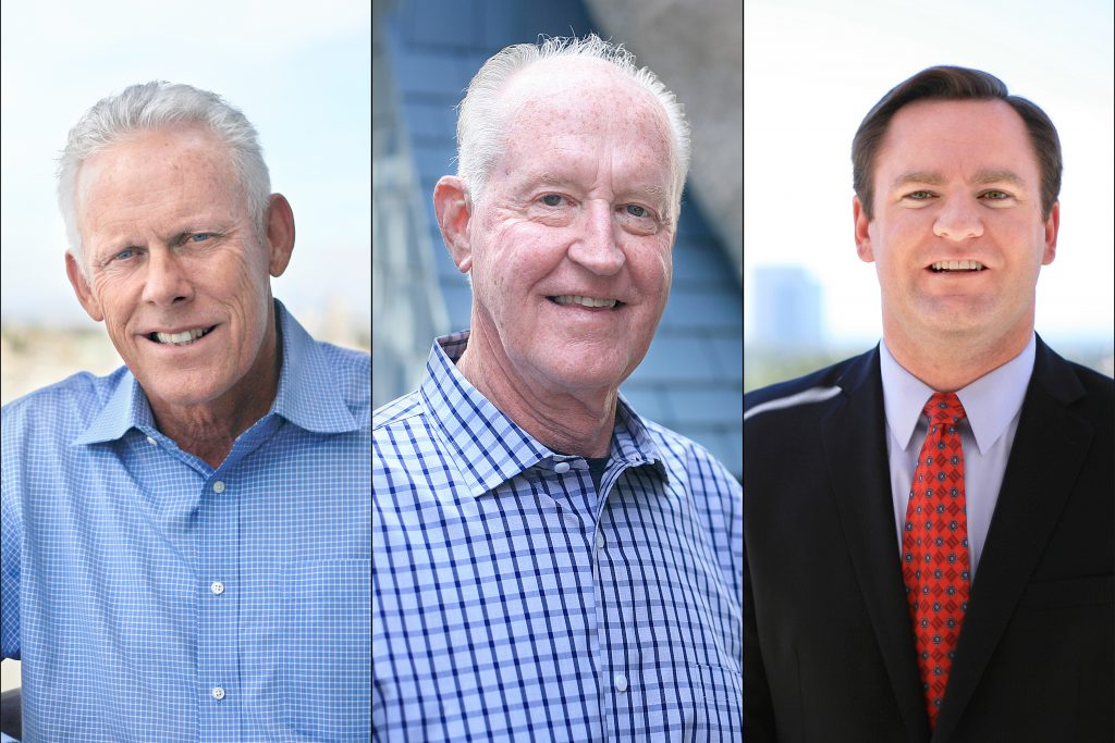 On Nov. 8 Newport Beach voters elected onto City Council: Brad Avery in District 2, Jeff Herdman in District 5, and Will O'Neill in District 7. — Photo by Sara Hall ©