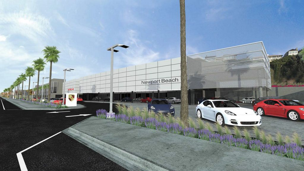 Newport Beach Planning Commission voted 5-1 on Oct. 6 to deny AutoNation Porsche Newport Beach project proposed for the Mariners' Mile area, at 320-600 W. Coast Highway. — Photo courtesy the city of Newport Beach ©