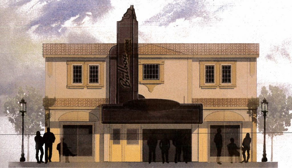 Newport Beach City Council unanimously voted 6-0 on Oct. 11 to sell the historic Balboa Theater on E. Balboa Boulevard to local developer Lab Holding, LLC, for $1 million. An artist's rendering of The LAB's vision for the Balboa Theater. — Photo courtesy the city of Newport Beach ©