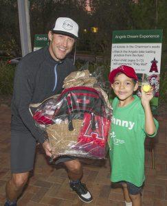 Brad Barlow with UCP-OC ambassador Johnny Spannagel (Barlow purchased the Angel's package so he could give it to Johnny)