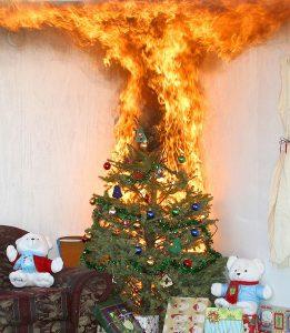burning-xmas-treer