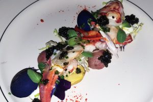 Lobster salad with caviar