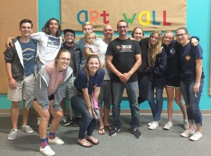 High school students and counselors in the Grace Fellowship Church's Serve OC program