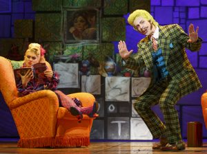 Darcy Stewart as Mrs. Wormwood, Brandon McGibbon as Mr. Wormwood -Credit 2016, Joan Marcus