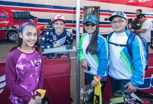 Cole Seely signs autographs for fans in San Diego