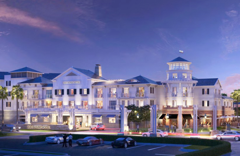 An artist rendering of Lido House Hotel. — Photo courtesy R.D. Olson Development ©