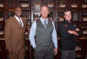The Winery partners William Lewis, JC Clow and Chef Yvon Goetz