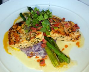 Salmon entrée at The Winery Restaurant