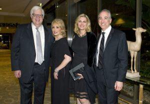 National Radio Talk Show Host Dennis Prager, Honoree Leslie Seigel, Sue Prager, and Honoree Scott Seigel.