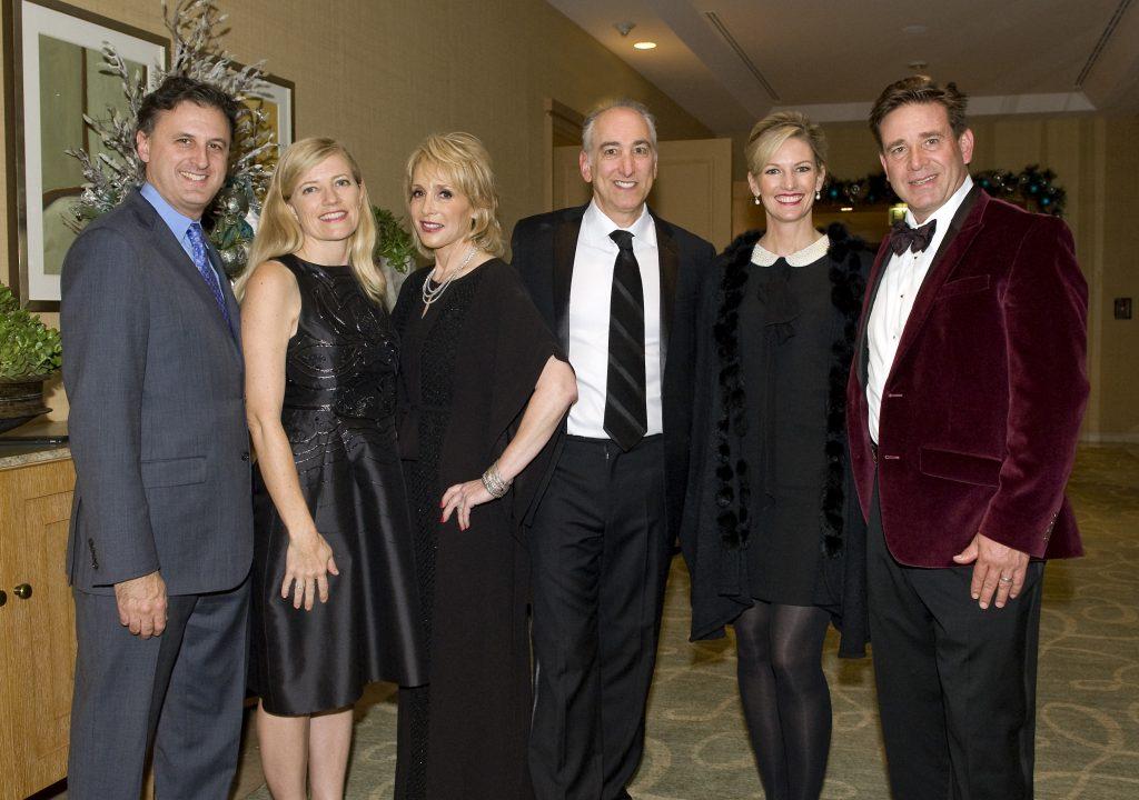 President of the Pacific Symphony, John Forsyte, Michele Forsyte, Honoree Leslie Seigel, Honoree Scott Seigel, Erin Walker, and Henry Walker