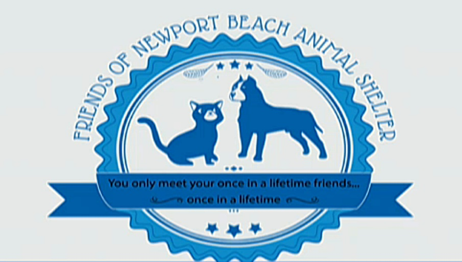 A draft logo for the Friends of Newport Beach Animal Shelter group