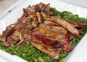 Pulled pork entry from the Rude Not 2 BBQ team ready for judging (photo by Chris Trela)