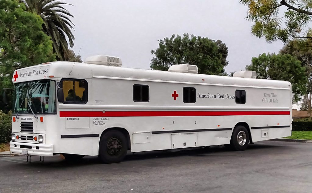 American Red Cross blood mobile.  — Courtesy American Red Cross ©