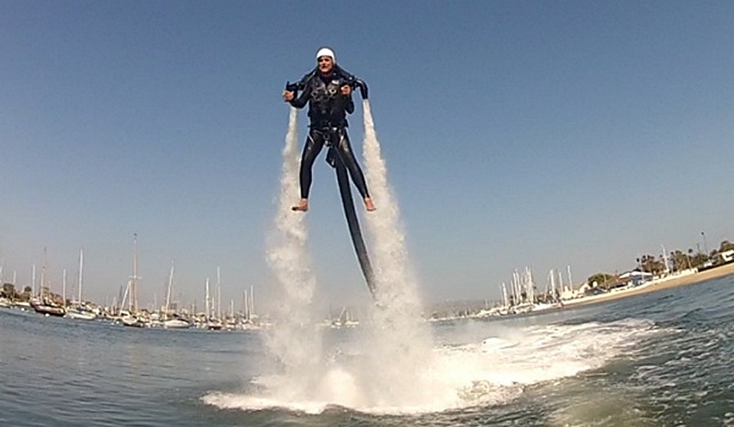 A jetpack user in Newport Harbor. — NB Indy file photo ©