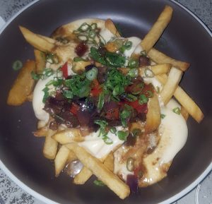 Cheese steak fries