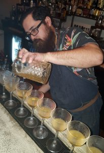 Mix Mix bartender Joe Carlin making his creative cocktails