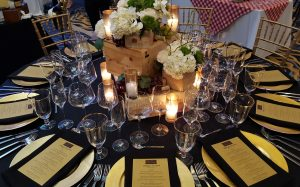 Table décor at last year's Table for Ten event