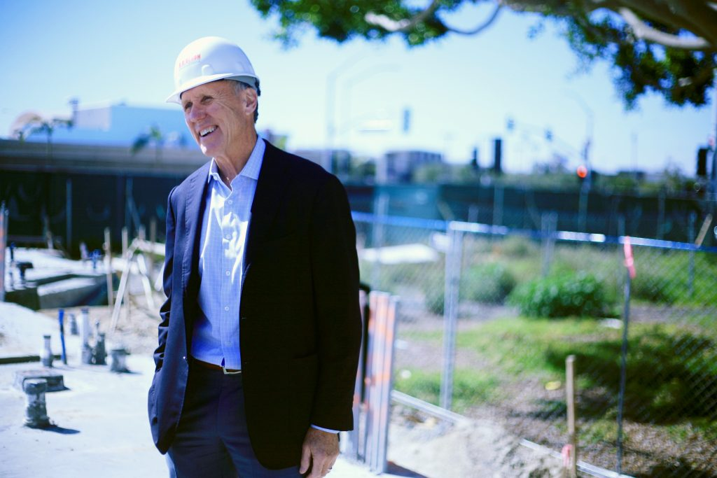 Bob Olson, President & CEO of R.D. Olson Development, looks over the work on the Lido House Hotel. — Photo by Sara Hall ©