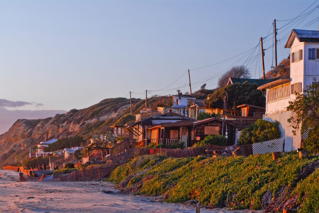Some of the Crystal Cove cottages to be restored on North Beach. The Crystal Cove Alliance is seeking a permit for the restoration, among other work at the park, which will be heard by the California Coastal Commission on Wednesday. — Photo courtesy Crystal Cove Alliance ©